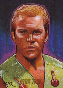 Frank Kadar AR Sketch - Mirror Captain James T. Kirk