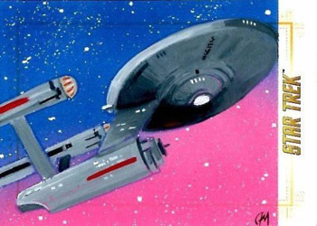 Jeff Nallinson Sketch - U.S.S. Enterprise NCC-1701