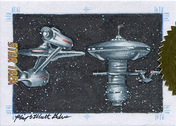 Mick & Matt Glebe Sketch - USS Enterprise and Space Station K-7
