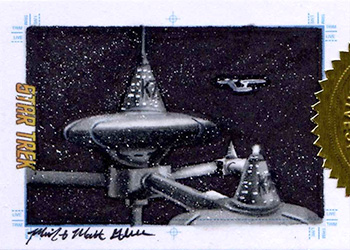 Mick & Matt Glebe Sketch - Space Station K-7 and USS Enterprise