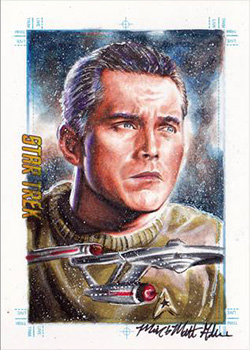 Mick & Matt Glebe Sketch - Christopher Pike and USS Enterprise