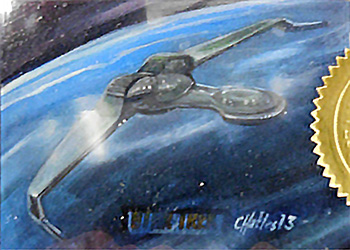 Charles Hall Sketch - Klingon Bird of Prey