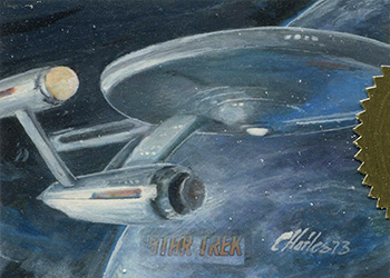 Charles Hall Sketch - USS Enterprise