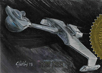 Charles Hall Sketch - Klingon D7 Battlecruiser