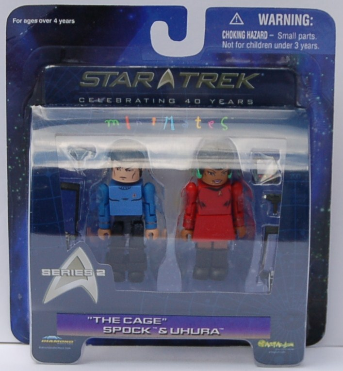 MM Series 2 The Cage Spock & Uhura