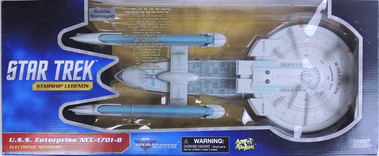 U.S.S. Enterprise NCC-1701-B with Battle Damage