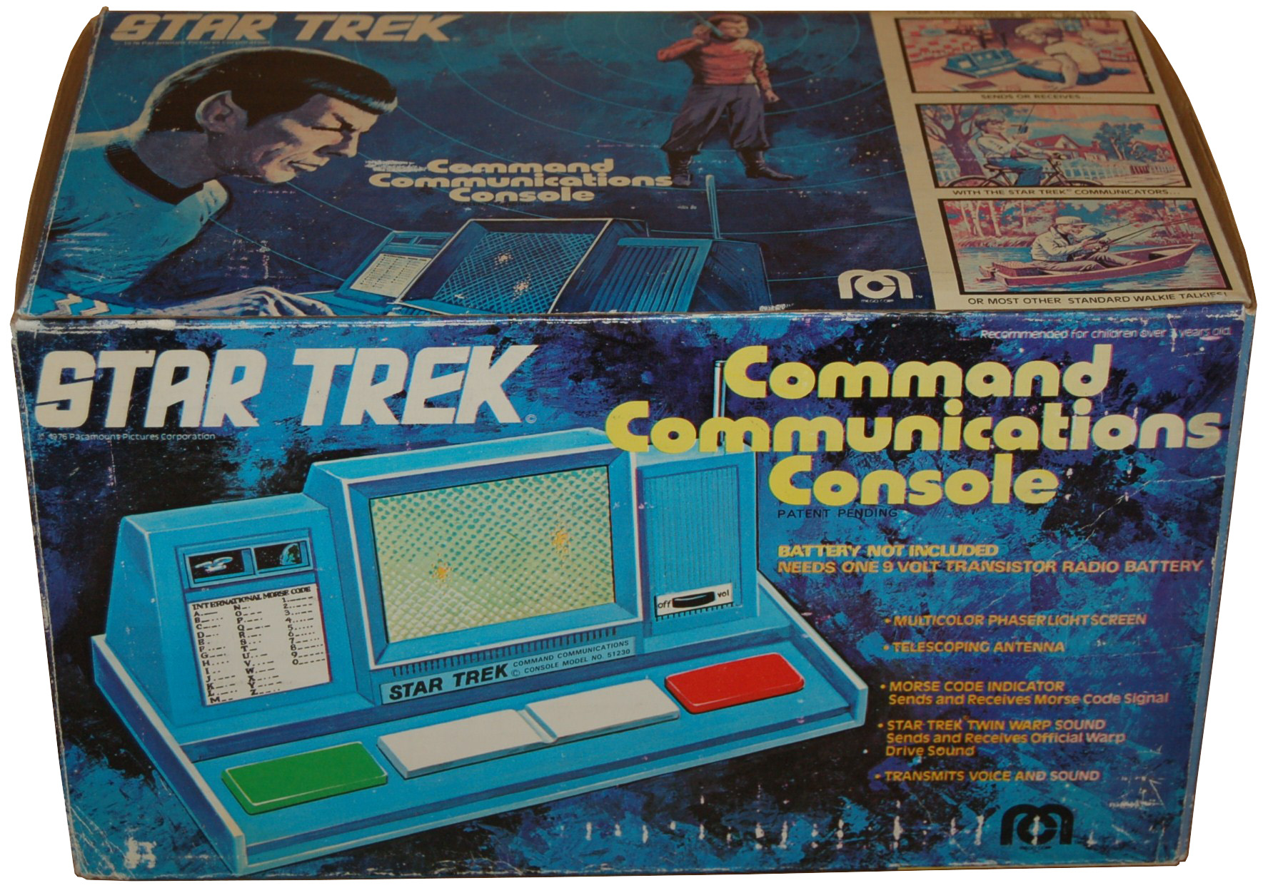 Mego Command Communications Console Box