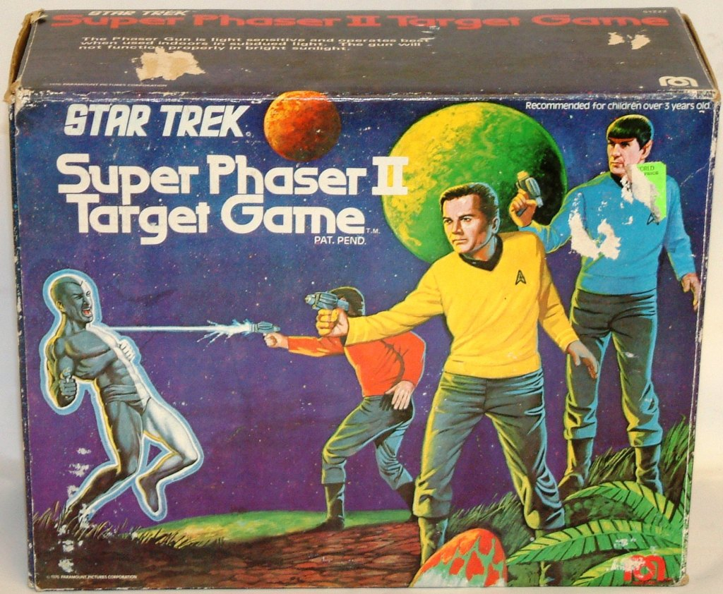 Mego Super Phaser II Target Game Box