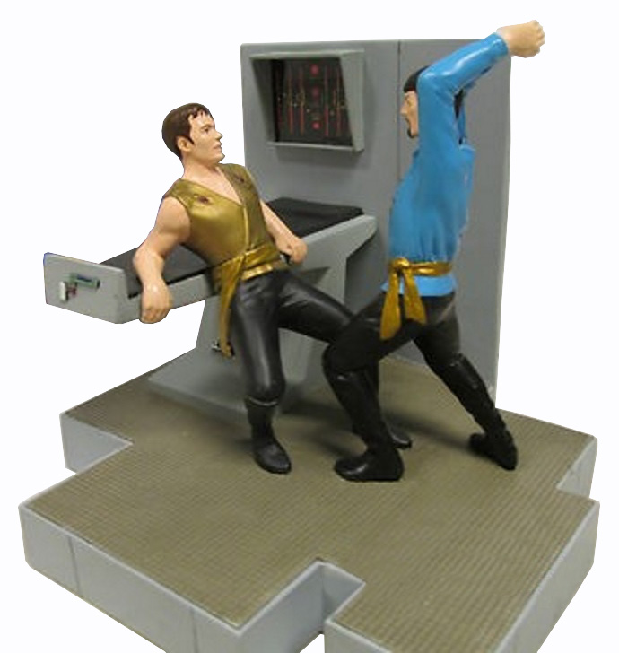 Kirk and Spock Latinum Statue