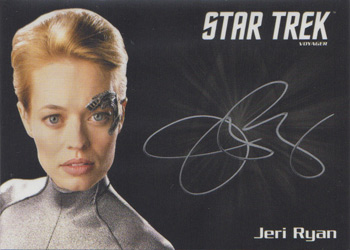 Jeri Ryan SIlver Series Autograph Card