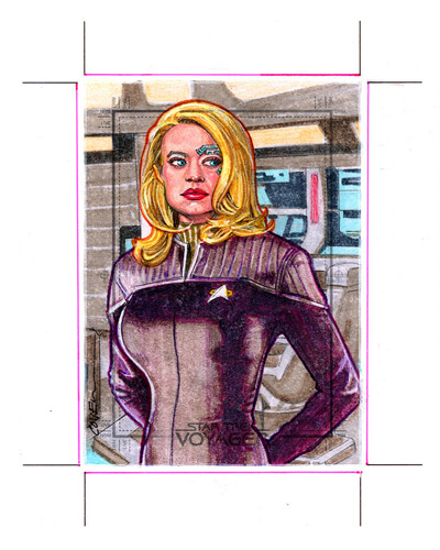 Roy Cover AR Sketch - Seven of Nine #1