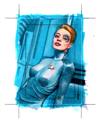 Roy Cover AR Sketch - Seven of Nine #2
