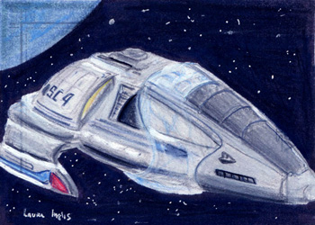 Laura Inglis Sketch - Armoured Voyager Shuttle