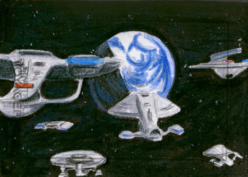 Laura Inglis Sketch - USS Voyager Escorted Home