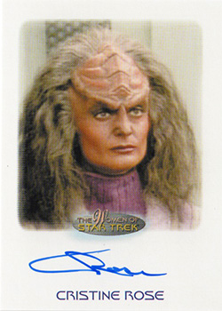 Autograph - Cristine Rose as Gi'ral