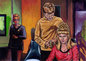 Norman Faustino Sketch - Charlie Evans and Janice Rand