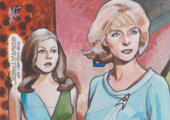Lee Lightfoot Sketch - Andrea and Christine Chapel