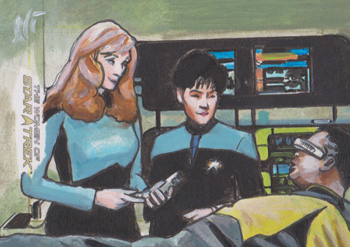 Lee Lightfoot Sketch - Beverly Crusher, Alyssa Ogawa and Geordi Laforge