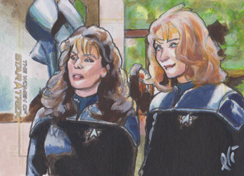 Lee Lightfoot Sketch - Deanna Troi and Beverly Crusher