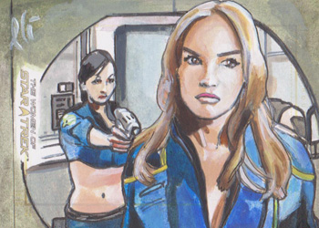 Lee Lightfoot Sketch - Mirror Universe Hoshi Sato and T'Pol