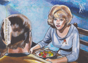 Lee Lightfoot Sketch - James T. Kirk and Christine Chapel