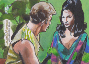 Lee Lightfoot Sketch - Mirror Universe Kirk and Marlena Moreau