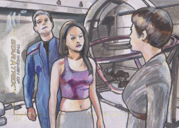 Lee Lightfoot Sketch - Trip Tucker, Hoshi Sato and T'Pol