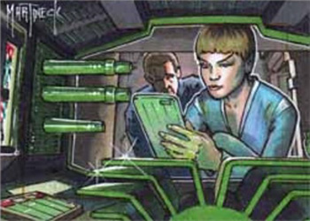 Warren Martineck Sketch - Jonathan Archer and T'Pol