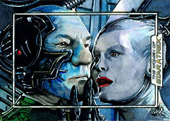 Chris Meeks Sketch - Locutus and Borg Queen