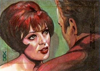 Veronica O'Connell Sketch - Edith Keeler and James T. Kirk