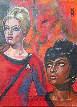 Veronica O'Connell Sketch - Yeoman Ross and Uhura