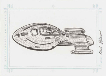 Bolson Sketch - U.S.S. Voyager from above