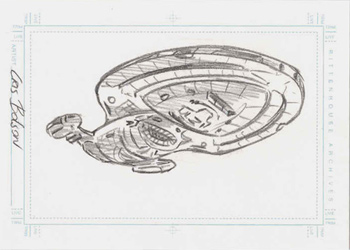 Bolson Sketch - U.S.S. Voyager from below