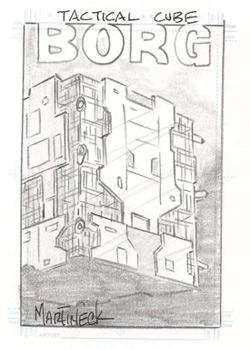 Martineck Sketch - Borg Tactical Cube