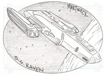 Martineck Sketch - S.S. Raven